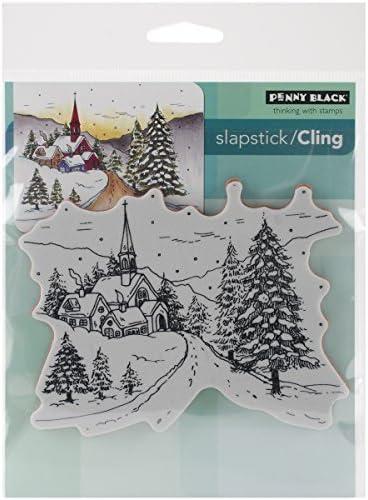 Penny nero Cling Rubber Stamp Stamp Stamp 5-inch x 7.5-inch Sheet-Snowy Hamlet by Penny nero 40 | The Queen Of Quality  | Alta sicurezza  | Nuove Varietà Vengono Introdotti Uno Dopo L'altro  d05f67