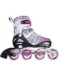 SPOKEY® BAFFIES Patines en Línea (Niños Mujer Inline Cuchillas ABEC 5 Tamaños ajustable 31-34, 35-38, 39-42), Color:white-Pink;Spokey Größen:39-42