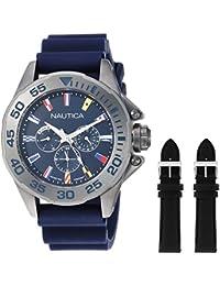 95e356e6ae37 Nautica Reloj Analogico para Hombre de Cuarzo con Correa en Silicona  NAPMIA008