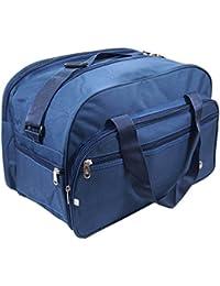 Storite Matty Cabin Size Bag with Adjustable Starp, (17 X 10 X 1-inch, Duffel Bag Blue, Blue)