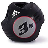 Adidas Adbl-10413 5 Kg Dual Grip Medicine Ball - Black/Red
