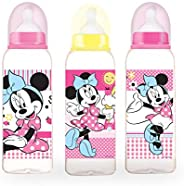 Disney - Baby Feeding Bottle 9oz, 0+ Months, Pack of 3, 260 ml - Minnie Mouse