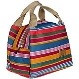 """Sac à Déjeuner Sac Fraîcheur Portable Isotherme tirette Sacs de courses et cabas Lunch Bag, 8.3*5.5*6.3"""" (Multicolore)"""