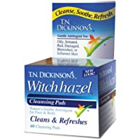 Witch Hazel Cleansing Pads de TN Dickinson, 60 Pads - Dickinson marcas