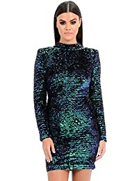 55b189a49215 Forever Unique Women's Rosalyn Sparkling Sequin Bodycon Dress - Green