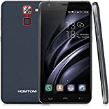 "HOMTOM HT30 Pro 4G Smartphone 5.5 ""pantalla grande Android 7.0 MTK6737 Quad Core 1.3GHz Teléfono móvil 3GB RAM 32GB ROM 3000mAh Batería Reconocimiento de huellas digitales Gesto Wakeup Movimiento inteligente Dual SIM GPS WIFI OTG OTA- Azul oscuro"