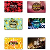 Yaya Cafe 12 X 18 Inches Eat Healthy Think Better Printed Table Mats Placemats For Dining Table Set Of 6