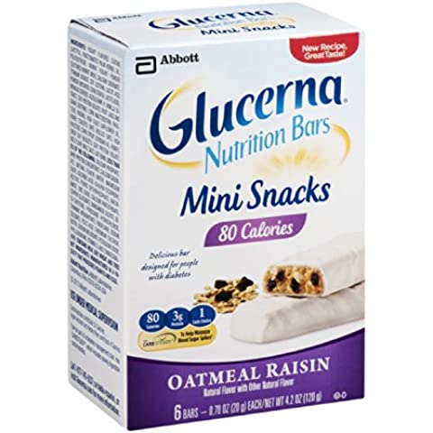 Glucerna Nutrition Bars Mini Snacks Oatmeal Raisin