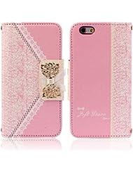 Malloom® Coque Pour iPhone 6 - Étui À Rabat En Cuir (Rose) Pour iPhone 6