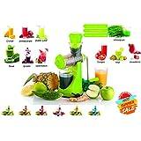 Cierie Fruits & Vegetable Juicer With Waste Collector, Steel Handle, Manual Juicer, Natural Fruit Juicer (ABSJuicer-Green)
