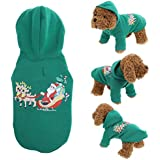 Rrimin Pet Dog Christmas Dress Teddy Bears Christmas Jacket Cotton Pet Sweater