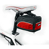 vitalite-outdoor Montagna Bicicletta Sella Borsa sedile posteriore, Storage Bag, Red