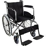 Rollstuhl faltbar | Ergonomischem Sitz und Rückenlehne | Schwarz | Sitzbreite 46 cm | Alcazaba | Mobiclinic