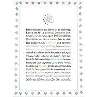 Personalisierbares Geschenk zur Firmung, Erstkommunion, Jugendweihe, Kommunion u. Konfirmation | Bilder für Jungen | als Gastgeschenk, kreative Verpackung für Geldgeschenk oder Glückwunschkarte