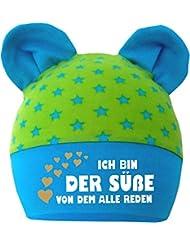 mitwachsende Baby - Kinder Mütze mit Ohren - Ich bin der Suesse von dem alle reden / in 4 Designs / Größen 35 - 53