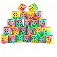 CCINEE 24pc Mini Smiley Face Springs Party Bags Fillers