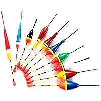 aloiness 100//viel Angeln Posen Set Boje Bobber Angeln Licht Stick schwimmt Schwanken Gr/ö/ße Farbe Float Buoy Farbe Multicolor