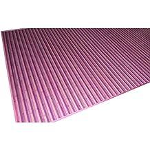Alfombra de bambú de rayas lila