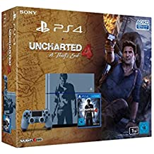 PlayStation 4 - Konsole (1TB, grau-blau) im Uncharted 4: A Thief's End Design inkl. Uncharted 4: A Thief's End