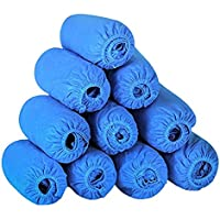 YJZQ 100pcs Premium desechable Zapato Cubierta Antideslizante a Prueba de Polvo Overshoes/Tobillo Botas/Zapatos Cubiertas y Protectores para Suelo y Alfombra, Azul