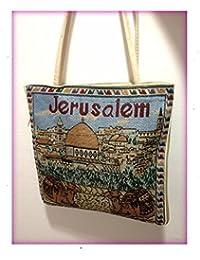Jerusalem Camel Handmade Hand-Bag Hand Bag Zipper Cloth Beautiful Holy Land By Bethlehem Gifts Tm