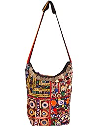 JaipurFabric Antique Barmeri Work Sling Bag For Women & Girls