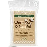 The Warm Company 2322 Natural Baumwolleinlage, 87.5 % Baumwolle, 12.5 % Polypropylen, 1.14 x 1.52 m