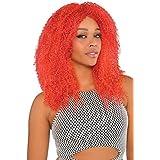 Amscan - Peluca de pelo afro para mujer, talla única, color rojo (999716)