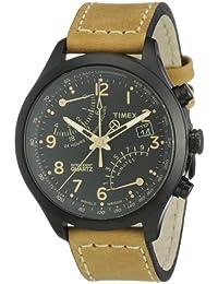 Timex T2N700AU - Reloj de cuarzo para hombres, correa de piel, color beige