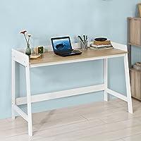 Promotion -20% ! SoBuy® FWT41-WN Bureau Informatique Secrétaire Table pour ordinateur conception simple plan de travail