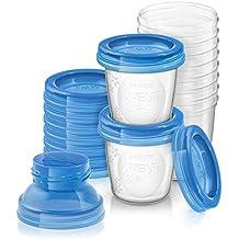 Philips Avent - Vaso con boquilla para alimentación infantil, color azul (SCF618/10)