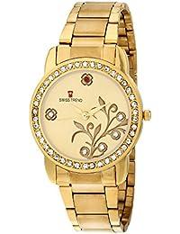 Swiss Trend Luxury Peral Desginer Golden women's wrist watch - OLST2088
