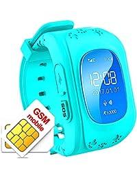 Reloj Inteligente Niña GPS con Rastreador del Sueño Llamadas de Dos Vías Reloj Niños Inteligente Smartwatch Niños GPS Sim con Llamada de Emergencia SOS,Smartwatch Niños Localizador GPS
