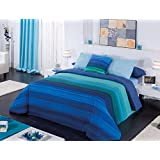 Funda Nordica 3 Pzas. Jamaica (Cama 105 cm, Color Azul)