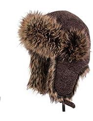 Qiaoba- Chaud de l'oreille de ski d'hiver en tricot de Lei Feng Cap
