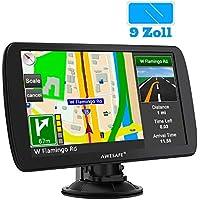 AWESAFE Navigationsgerät für LKW mit 9 Zoll Touchscreen GPS Navi untertützt lebenslang Kartenupdate