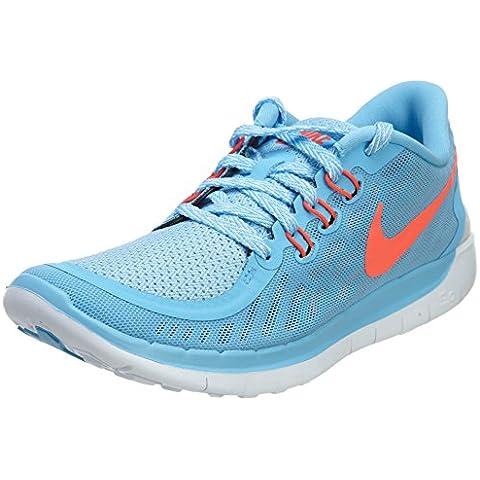 Nike Free 5.0 (GS) Laufschuhe lakeside-bright crimson-blue lagoon- 37,5