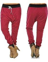 Cinnamou Pantalones de chándal cagados para Mujer en Cierre de Cordones  Hippie Pantalón Deportivos de harén 7a01211404c