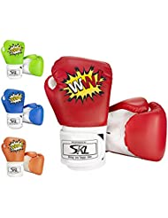 SKL Kids Boxing Gloves 4oz Children Cartoon Sparring Boxing Gloves Training Mitts Junior Punch PU Leather Age 5-12 Years