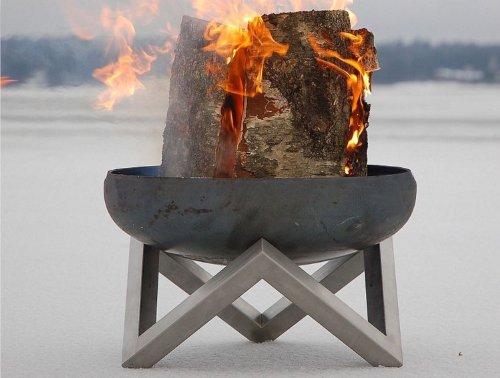 *Design-Feuerschale aus massivem Stahl Gr. L – von SvenskaV*