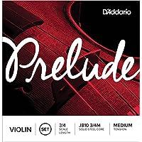 D'Addario Orchestral J810 Prelude 3/4 M - Juego de cuerdas violín