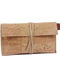 SIMARU Funda para Tabaco de Liar hecha de corcho / piel de corcho con compartimentos para encendedor, filtros y papeles de fumar. Estuche para guardar tabaco, diseño para hombres y mujeres