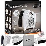 Daewoo Portable Flat / Upright 2000W Electric Fan Heater