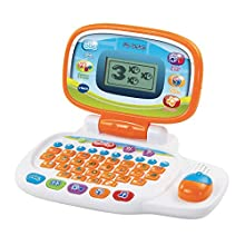 VTech 155403 Pre School Laptop Interactive Educational Kids Computer Toy with 30 Activities Suitable for Children 3, 4, 5+ Year Olds Boys & Girls, White/Orange