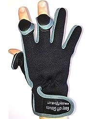 Gants spécialisés en néoprène, velcro (bouts des doigts repliables) par Easy Off Gloves – idéaux pour la pêche, le jardinage, la photographie, et le travail manuel en général.