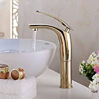 sbwylt-brass placcato Raised Lavatory rubinetto