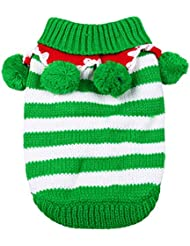 UEETEK Perrito de la moda perrito vestido de la Navidad falda ropa de invierno para mascotas
