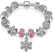Presentski Charms argento placcato regalo di giorno di Charm Bracelet  Compleanno Madre a0e8fd0aca1f
