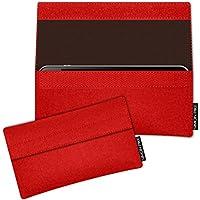SIMON PIKE Blackberry Passport Filztasche Case Hülle NewYork in rot 2, passgenau maßgefertigte Filz Schutzhülle aus echtem Natur Wollfilz, dünne Tasche im schlanken Slim Fit Design für das Passport