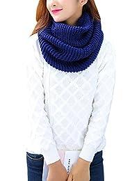 7002da00e390 iShine Mode Echarpe Tricoté Tube Foulard Tubulaire Echarpe en Tour au Cou  pour Femme Fille Cache